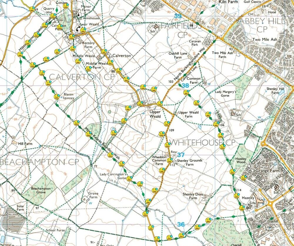 Geocaching Route