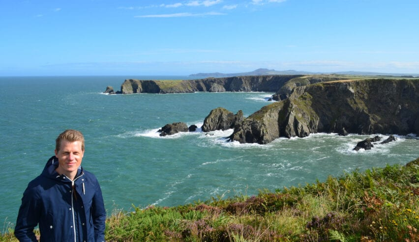 Brian on the Pembrokeshire Coastline