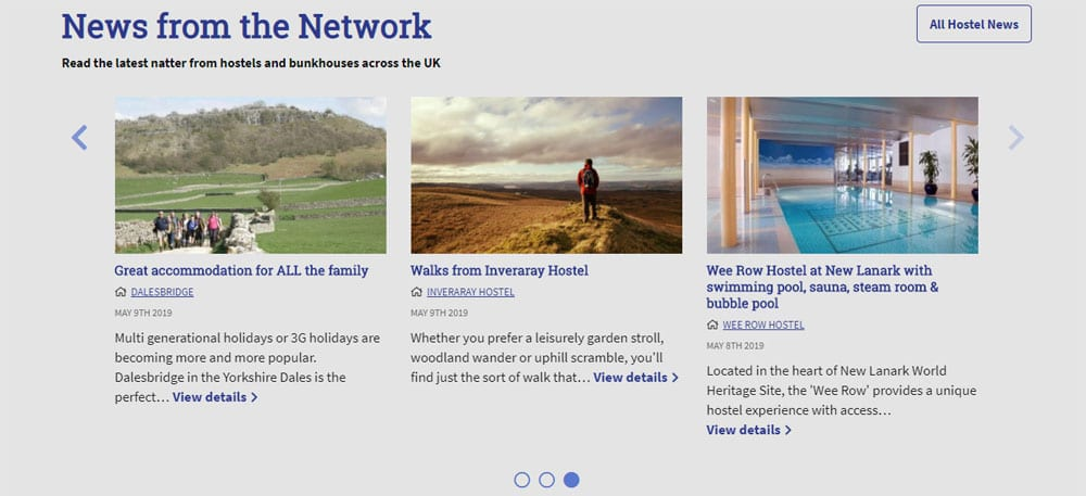 Natters on Independent Hostels Homepage