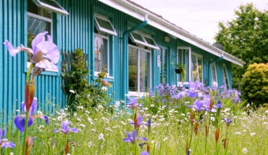 inveraray hostels with summer flowere