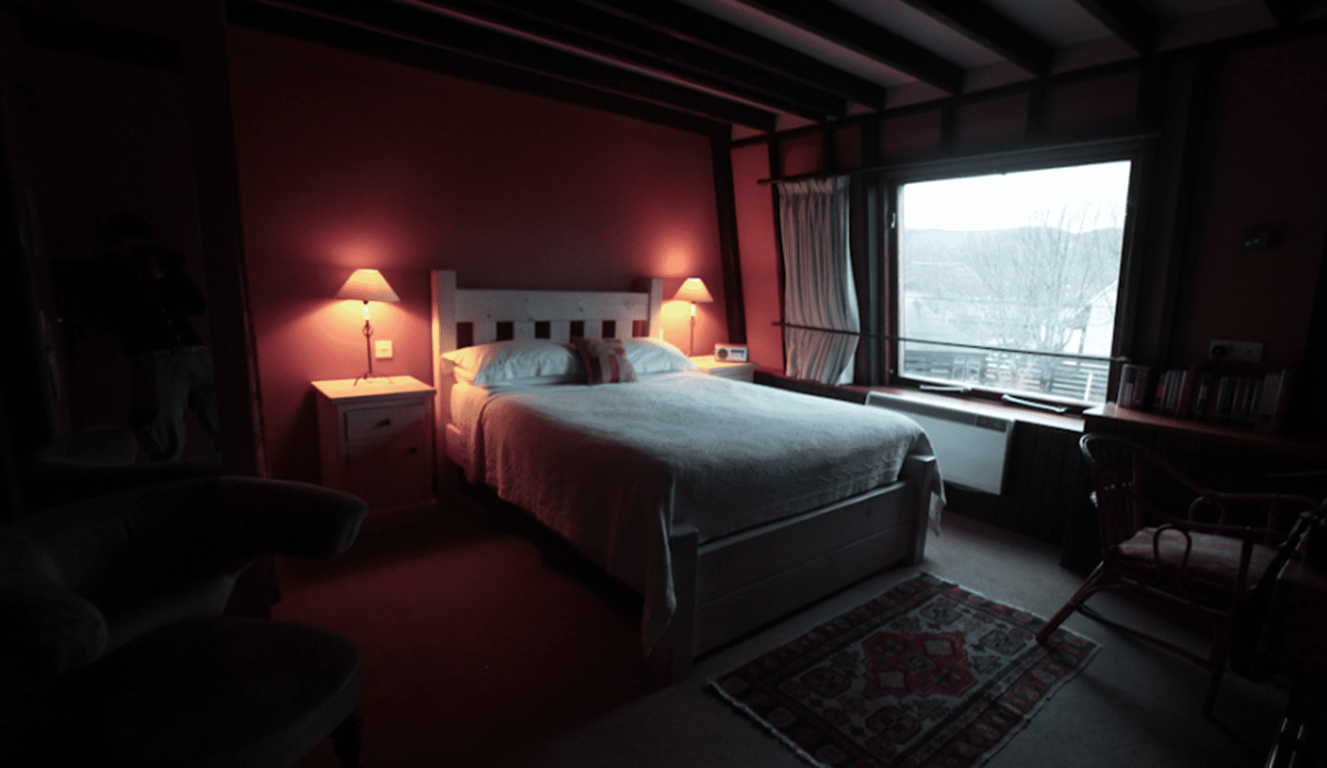 Bedroom at the Ceilidh place