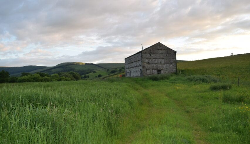 View of Raydale Barn