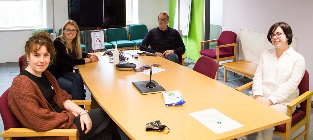 Dee hosts a meeting with Kickstartgo in the meeting room at Cromford Creative