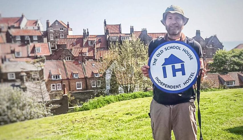 independent hostels sign received by old school lodge robin hoods bay