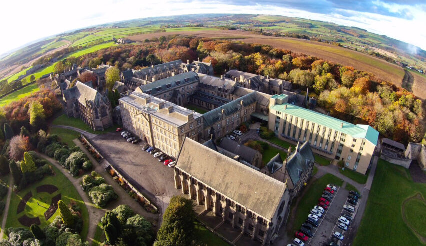 Ushaw Historic House Aerial view