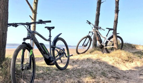 Bikes on Coast and Castles route