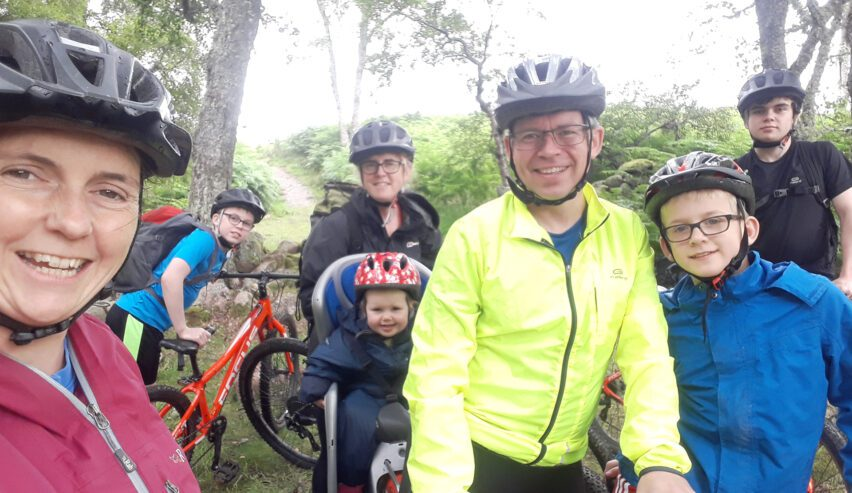cyclists at Ballater Hostel