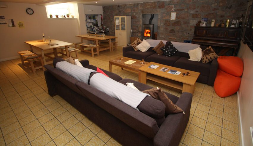 comfy sofas at Ballater Hostel