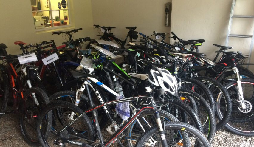 bike shed at Ballater Hostel