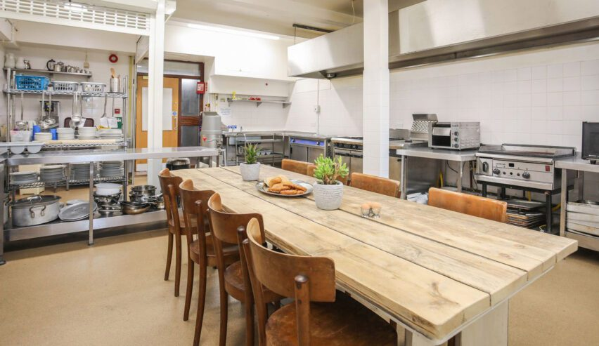 self catering kitchen at Brynkir Coach House
