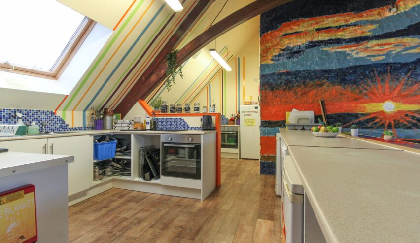kitchen at Backpackpackers Plus oban