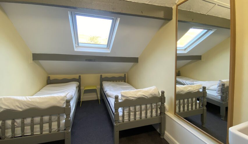 Twin room at Kettlewell Hostel