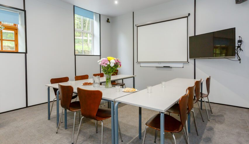 meeting room at Osmotherley youth hostel at Cote Ghyll Mill