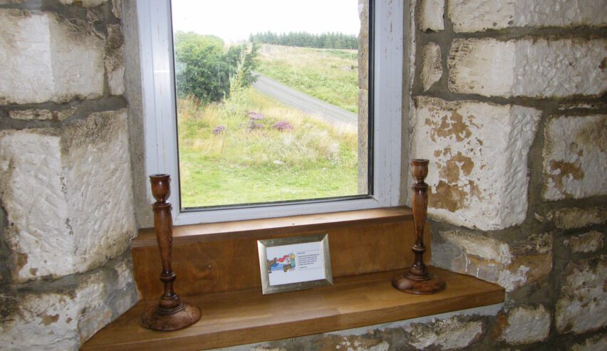 view from Chartners Farm off grid accommodation