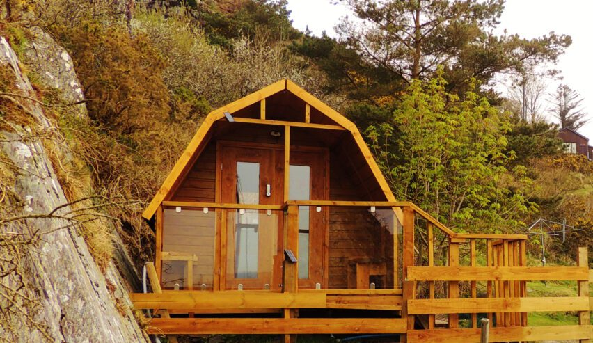 self catering pod at bunkorma