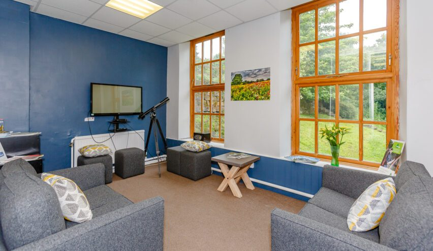 common room at Osmotherley youth hostel at Cote Ghyll Mill