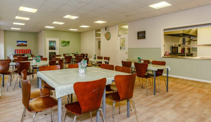 cafe at Osmotherley youth hostel at Cote Ghyll Mill