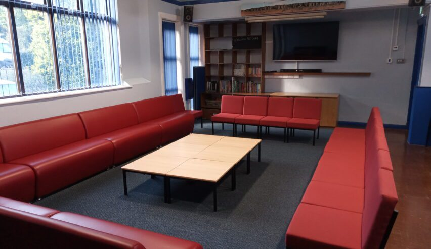 lounge at St Michaels centre outdoor pursuits in the peak district