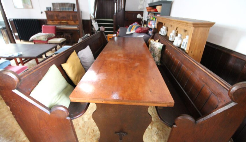 dining table at main hall at Kirkby Stephen Hostel