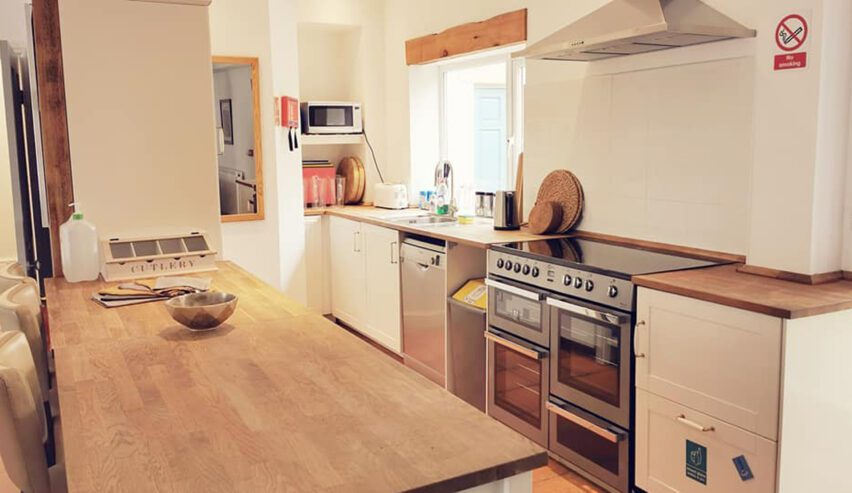 self catering kitchen at Allendale Bunkhouse