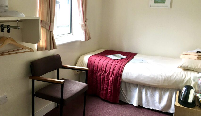 Accessible room at the Ludlow Mascall Centre
