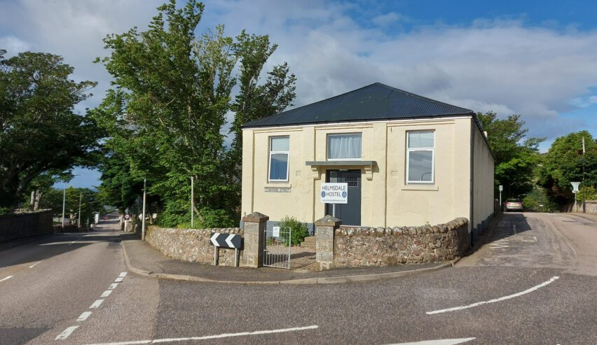 Front of Helmsdale Lodge and Helmsdale Hostel